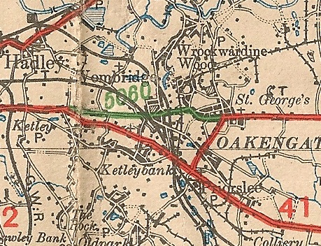 1922 Map showing A5